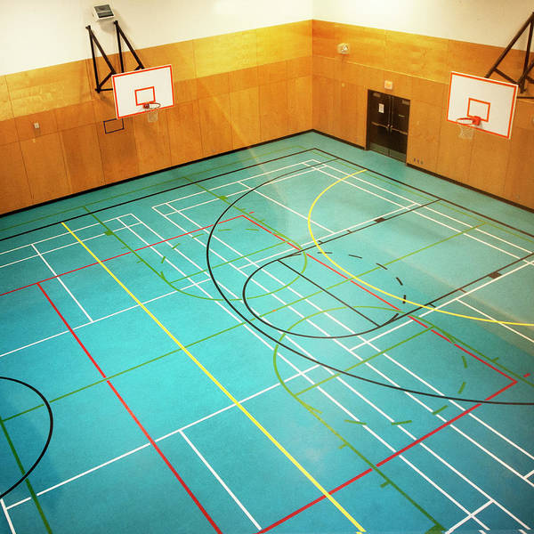 Court Photograph - Basketball Courts by Marlene Ford