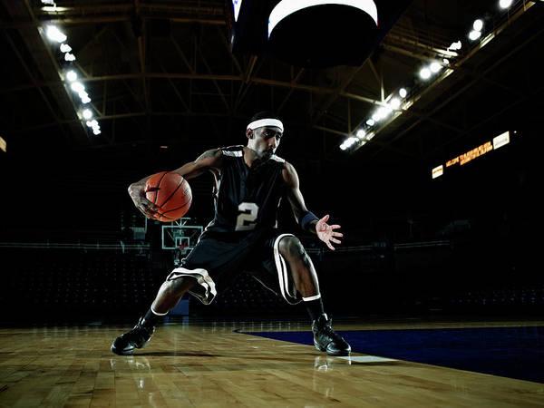 Practice Photograph - Basketball Player Dribbling Basketball by Thomas Barwick