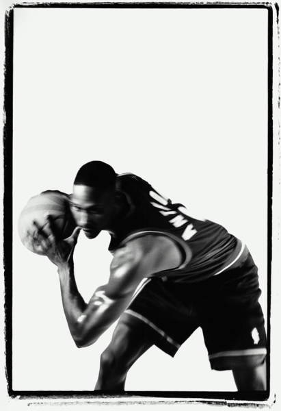 Bending Photograph - Basketball Player Holding Ball, Section by Raymond Allbritton