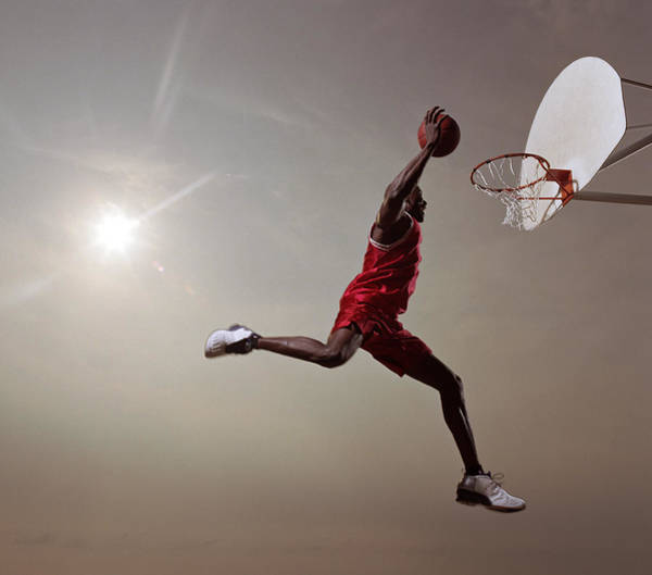 Little Person Wall Art - Photograph - Basketball Player In Mid-air Jump by Blake Little