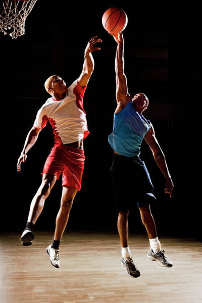 Real People Photograph - Basketball Players Playing Basketball by Compassionate Eye Foundation/chris Newton