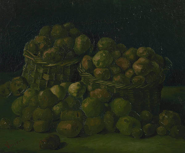 Potato Painting - Baskets Of Potatoes by Vincent van Gogh