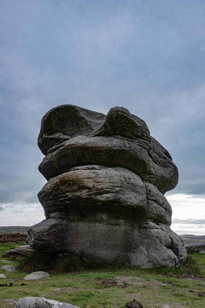 Photograph - Baslow Edge Eagle Stone by Scott Lyons