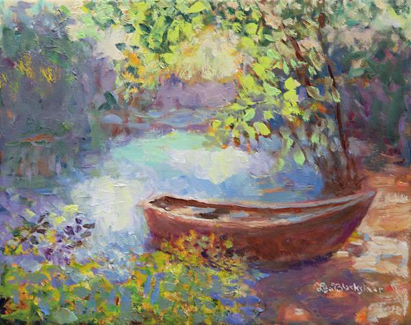 Painting - Bass Boat Morning by Lisa Blackshear