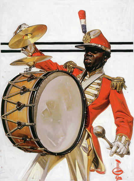 Wall Art - Painting - Bass Drummer - Digital Remastered Edition by Joseph Christian Leyendecker