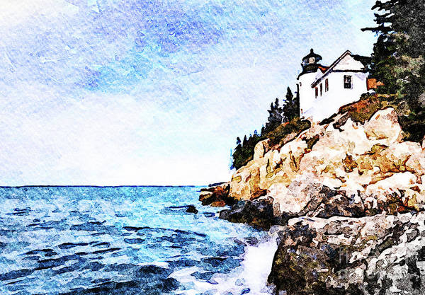 Wall Art - Photograph - Bass Harbor Head by DiFigiano Photography