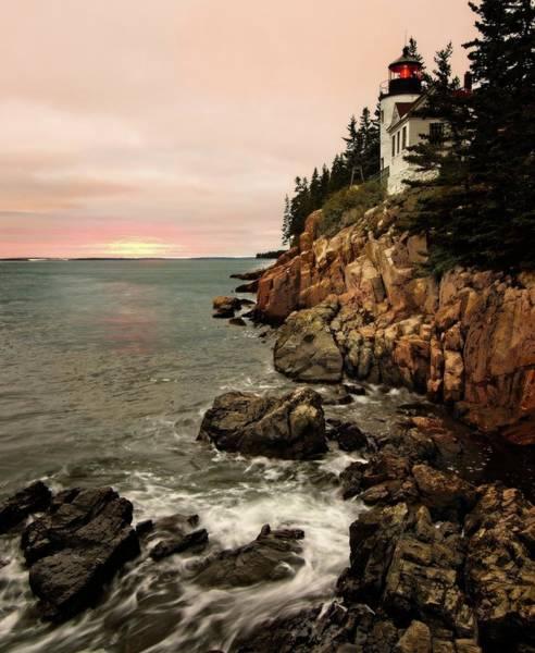 Photograph - Bass Harbor Head Lighthouse by Walt Sterneman
