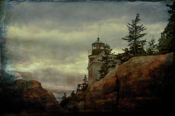 Photograph - Bass Harbor Light Through The Boulders by Jeff Folger