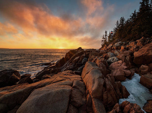 Photograph - Bass Harbor Lighthouse February by Darylann Leonard Photography