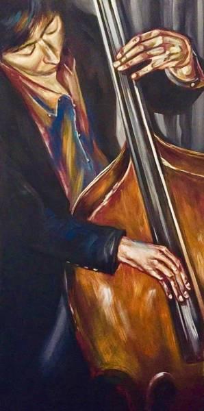 Wall Art - Painting - Bass Man by Rebecca Aguilar