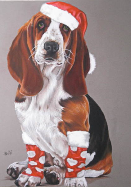 Pastel - Basset Complete by Barbara Keith