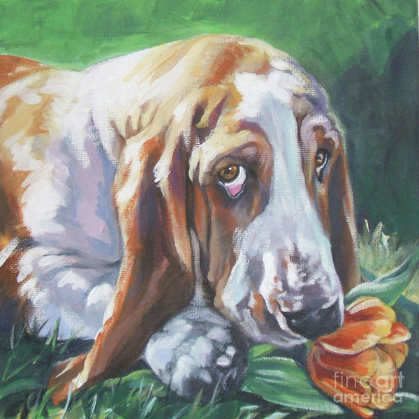 Wall Art - Painting - Basset Hound by Lee Ann Shepard