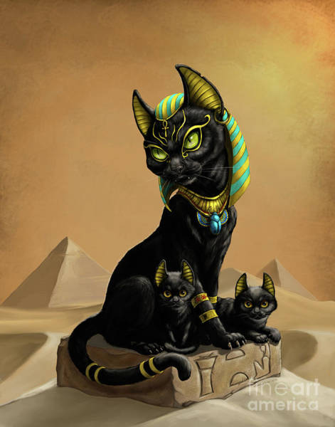 Digital Art - Bastet Egyptian God by Stanley Morrison