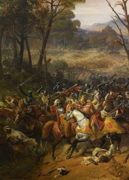 Wall Art - Painting - Bataille D'arsuf, Richard Coeur De Lion, 1191 by Eloi Firmin Feron