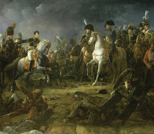 Wall Art - Painting - Bataille D'austerlitz, 1805 by Francois Pascal Simon Gerard