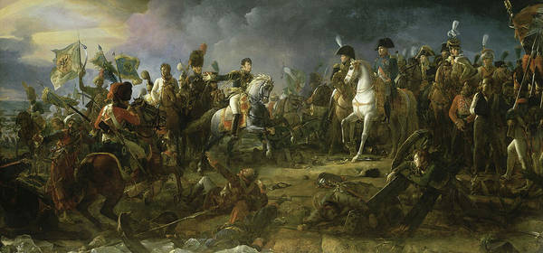 Wall Art - Painting - Bataille D'austerlitz by Francois Gerard