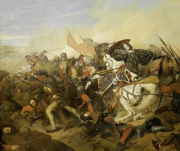 Wall Art - Painting - Bataille De Cassel by Henry Scheffer