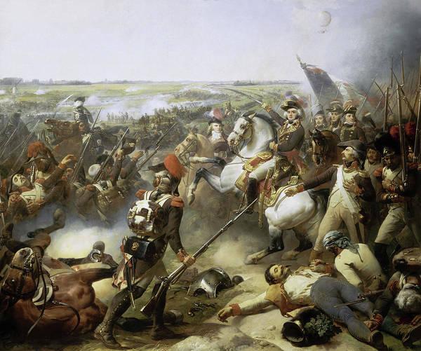 Wall Art - Painting - Bataille De Fleurus, 1794 by Jean-Baptiste Mauzaisse
