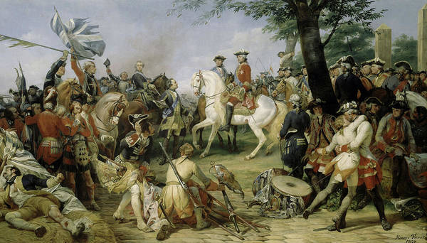 Wall Art - Painting - Bataille De Fontenoy by Horace Vernet