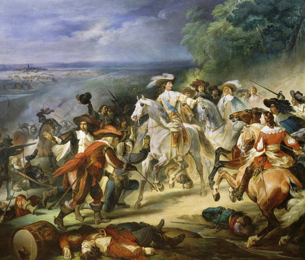 Wall Art - Painting - Bataille De Rocroy, 1643 by Francois Joseph Heim