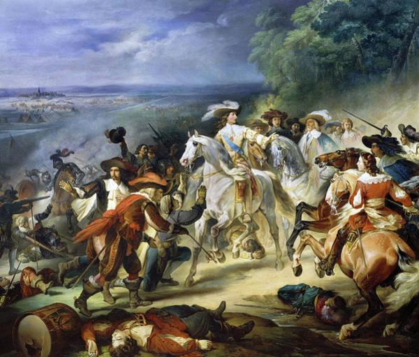 Wall Art - Painting - Bataille De Rocroy by Francois Joseph Heim