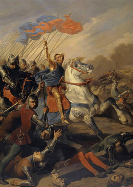 Wall Art - Painting - Bataille De Roosebeke, 1382 by Johannot Alfred