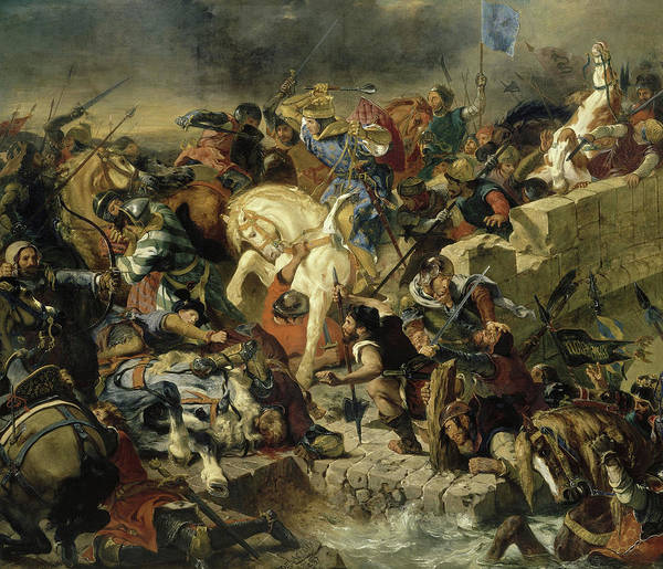 Wall Art - Painting - Bataille De Taillebourg, 1242 by Eugene Delacroix