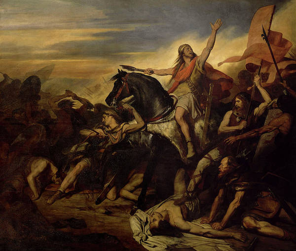Wall Art - Painting - Bataille De Tolbiac, 496 by Ary Scheffer