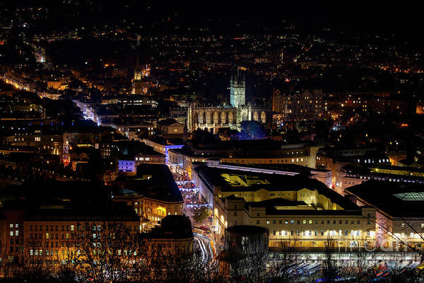 Wall Art - Photograph - Bath At Night In December by Tim Gainey