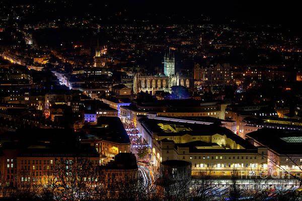 Bath Abbey Photograph - Bath At Night In December by Tim Gainey