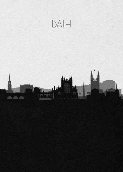 Old Town Digital Art - Bath Cityscape Art by Inspirowl Design