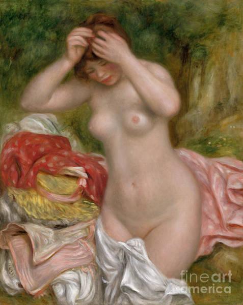 Photograph - Bather, 1893 by Renoir