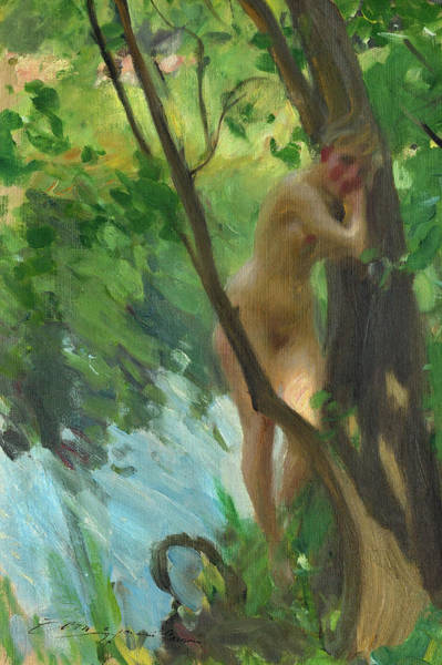 Having Sex Painting - Bather by Anders Zorn