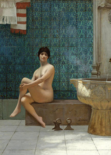 Painting - Bather At The Brousse Pool by Jean-Leon Gerome