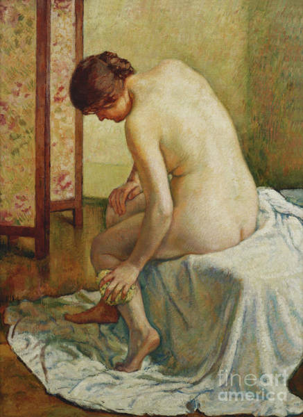 Wall Art - Painting - Bather, Baigneuse by Theo van Rysselberghe