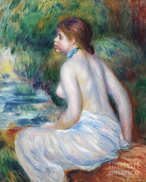 Wall Art - Painting - Bather Sitting, 1890 by Pierre Auguste Renoir