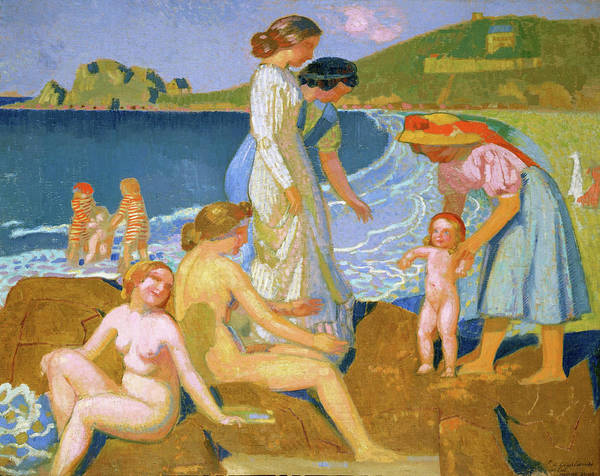 Wall Art - Painting - Bathers At Perros Guirec - Digital Remastered Edition by Maurice Denis