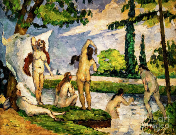 Painting - Bathers By Cezanne by Paul Cezanne