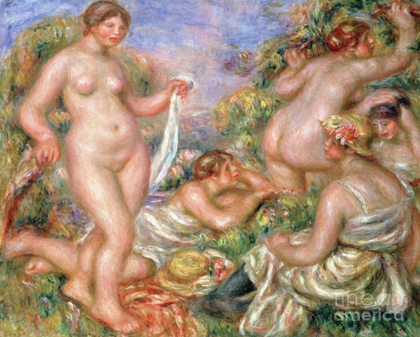 Wall Art - Painting - Bathers, Circa 1918 by Pierre Auguste Renoir