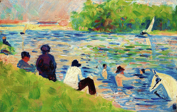 Wall Art - Painting - Bathers - Digital Remastered Edition by Georges Seurat
