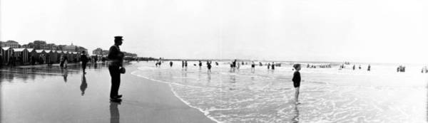 Wall Art - Photograph - Bathers On Beach by Alfred Hind Robinson