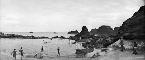 1923 Photograph - Bathing At Dunbar by Alfred Hind Robinson