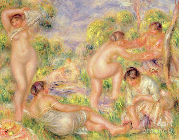 Wall Art - Painting - Bathing Group, 1916  by Pierre Auguste Renoir