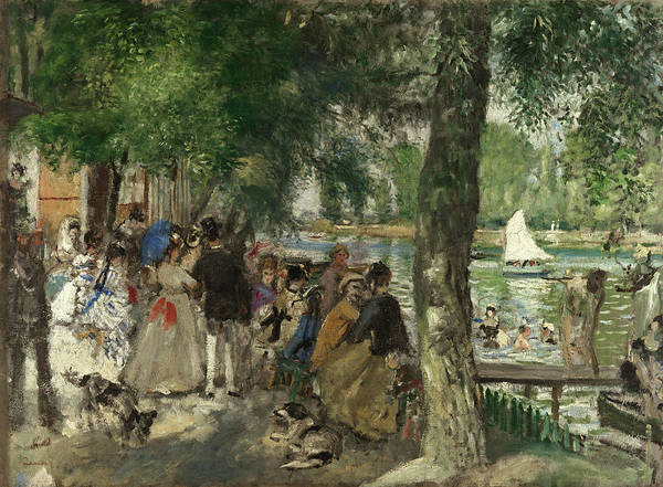 Wall Art - Painting - Bathing On The Seine, 1868 by Pierre-Auguste Renoir