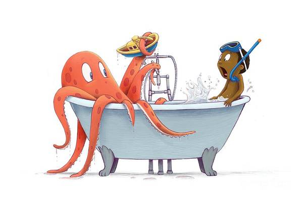 Digital Art - Bathtime by Michael Ciccotello