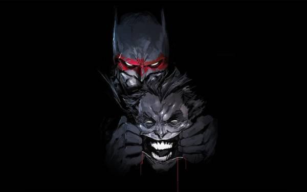Robin Digital Art - Batman Joker by Geek N Rock