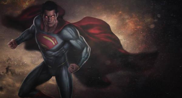 Batman V Superman Textless Art Print