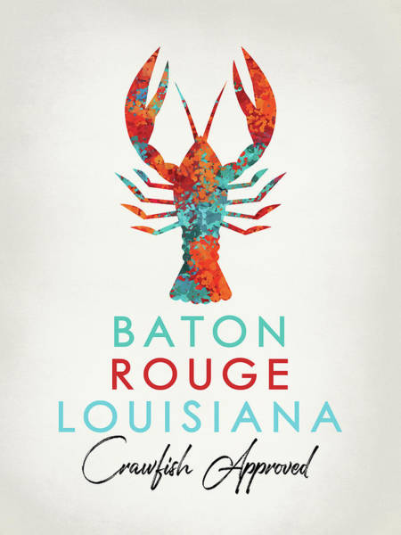 Louisiana Digital Art - Baton Rouge Louisiana Crawfish Bright by Flo Karp