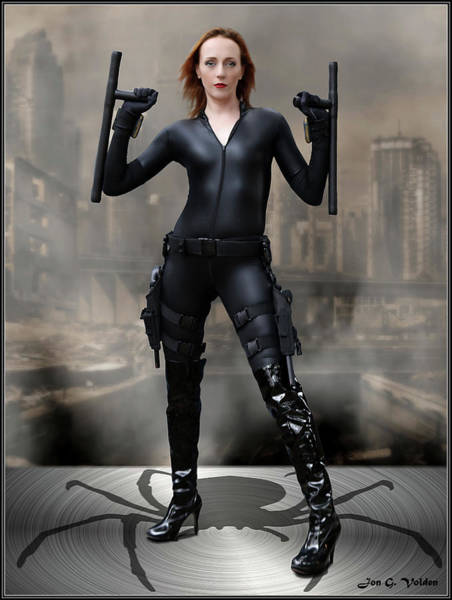 Photograph - Batons Of The Black Widow by Jon Volden