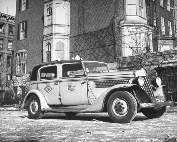 Merchandise Photograph - Battered Taxicab W. 20 Cents 1st Quarter by William C. Shrout